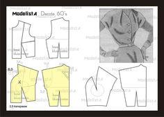 ModelistA: 60's dress - pattern drafting
