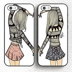 You're always texting and calling your bestie. Why not share a matching phone case? Celebrate your epic friendship with this pair swoon-worthy cases. If you'd like to order different sizes, please leave a comment in the box at checkout and we'll get that done for you! Soft TPU case Easy access to all buttons Ultra slim design