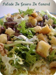 """750g vous propose la recette """"Salade de gésiers de canard"""" publiée par christj9U."""
