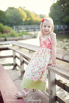 Girls Classic Sundress kids clothing sewing Tutorial Pattern ePattern DIY ebook PDF for kids babies toddlers