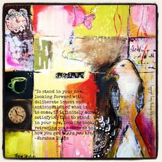 Heartful Musings: year of Brave.Dreams and Possibilities Art Journal Pages, Art Journaling, Online Art Classes, Art Journal Inspiration, Heart Art, Learn To Paint, Medium Art, Collage Art, Collages