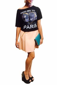 This lightweight peach colored faux leather skirt is perfect for the upcoming spring and summer seasons! Dress this up or down. Back zipper closure and side pockets.   Peach Leather Skirt Clothing - Skirts - Leather Clothing - Skirts - Mini Las Vegas