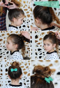 5 hair do's for little girls; I wish Jae's hair was straight enough to do this....so cute...