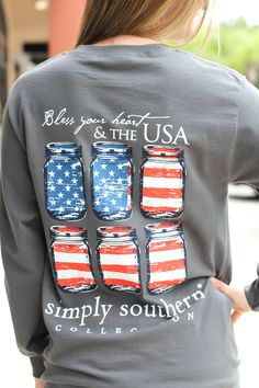 Simply Southern Long Sleeve – USA | A Cut Above Boutique, Inc.