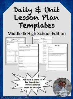 lesson plan templates nicole brown nicole brown