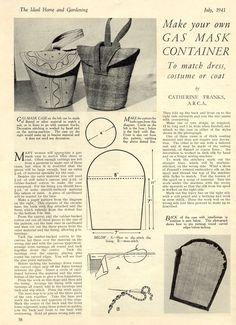 Creepy but would make a cute wristlet---Vintage Chic: Gas Mask Carrier & Handbag Patterns
