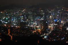 Seoul At Night In High Quality