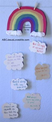 Our Out-of-Sync Life: Craft: God's Promises: God if Faithful Bible Story Crafts, Bible Crafts For Kids, Preschool Bible, Bible Lessons For Kids, Bible Activities, Church Activities, Sunday School Activities, Sunday School Lessons, Sunday School Crafts
