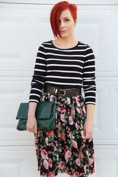 Thrift and Shout: Cute Outfit of the Day: The Midi Skirt