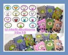 Stickdatei  ♥U-Heft-Button♥  10x10 von SewDreams - Nähträume zum Kaufen auf DaWanda.com