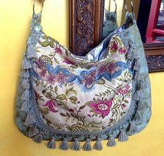 Spring gypsy bag with blues