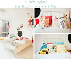 Los colores  en las paredes son muy importantes para que se note que es un dormitorio unisex.