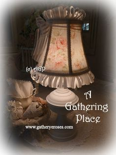 ~How To Cover A Lampshade~ (and make it look fabulous!) **Left Click Pictures to Enlarge** Ever see those lovely little lampshades in thos...