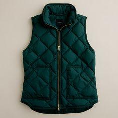 Excursion quilted vest - J. Crew (blue, black, red, green, pink)