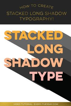 Create Stacked Long Shadow Typography in Adobe Illustrator
