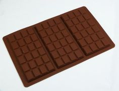 Form aus Silikon für Schokolade - 3 große Schokoladentafeln (95 g): Amazon.de: Küche & Haushalt