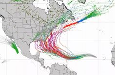 Spaghetti Models Showing Path Of Hurricane Irma Near Florida Atlantic