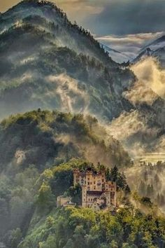 Mist in the Alps, Bavaria, Germany
