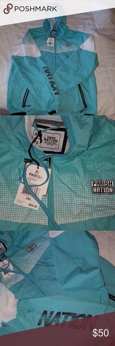 Windbreaker Brand New never been worn!!!! parish nation Jackets & Coats