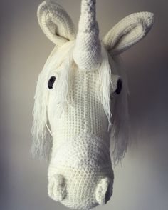 Handmade taxidermy unicorn.... made by Wool in a teacup. Facebook, Instagram & etsy shop Pattern adapted from a Vanessa Mooncie pattern.