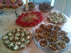 sample of a finger food menu...this was for a baby shower