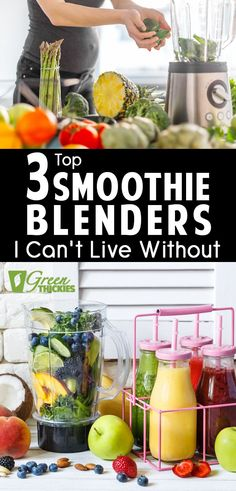 Here are all my most loved smoothie blenders at a variety of prices. These are blenders I actually use and love and will help you create the perfect smoothie. Protein Fruit Smoothie, Best Smoothie Blender, Best Green Smoothie, Smoothie Prep, Fruit Smoothie Recipes, Make Ahead Smoothies, Good Smoothies, Food Program, Best Blenders
