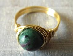 Check out this item in my Etsy shop https://www.etsy.com/listing/502419584/ruby-zoisite-ring-stone-ring-green-stone