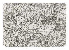 Zentangle Garden by Rosie Brown Bath Mat
