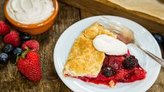 Recipe - Fresh Berry Crostata with Cinnamon Creme Fraiche | Home ...
