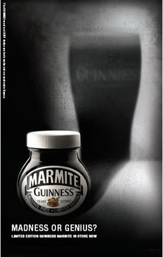 Cool Guinness Marmite poster.