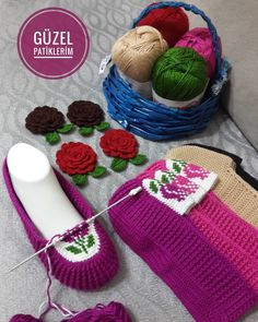 güzel patiklerim (@guzelpatiklerim) | Instagram photos and videos Crochet Men, Tunisian Crochet, Crochet For Kids, Crochet Crafts, Crochet Baby Sandals, Crochet Shoes, Crochet Slippers, Knitted Booties, Baby Booties