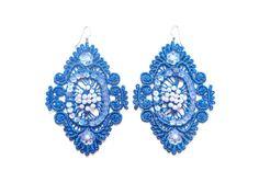 Blue Lace Earrings by White Bear