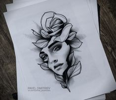 #blackwork #tattoo #dotwork #linework #blacktattoo #neotraditional #portrait #drawing #sketch