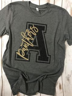 Made on a bella canvas unisex shirt. School Spirit Wear, School Spirit Shirts, School Shirts, Teacher Shirts, Cheer Shirts, Sports Shirts, Dance Team Shirts, School Tshirt Designs, Senior Shirts