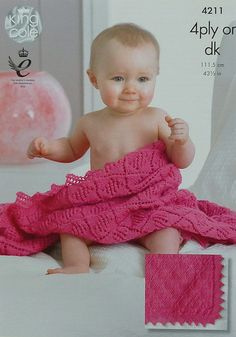 Baby Blanket Knitting Pattern K4211 Babies Easy Lace