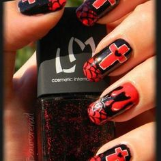 lovely goth inspired nails