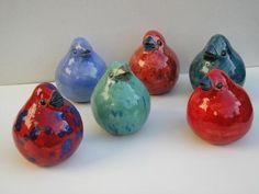 Keramik Vase, Ceramic Birds, Polymer Clay, Pottery, Candles, Diy, Plaster, Cement, Polka Dot