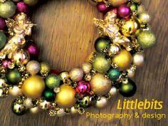 Bauble wreath for Christmas