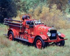 1922 Seagraves Vintage Fire Truck Engine