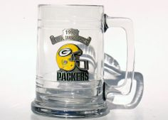 Green Bay Packers Divisional Championship Football Glass