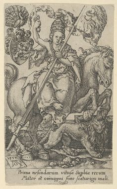 Pride, from The Vices - Heinrich Aldegrever