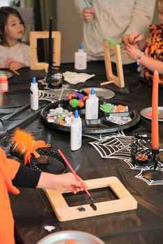 This Halloween Luncheon of little ladies is THE CUTEST!!!  Sooo many cute ideas to do for and with your own kiddos! #halloween