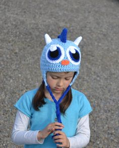 Dragon Monster Hat, Crochet Baby Hat, Animal Hat, photo prop, Inspired by Moshi Monsters - Baby, Toddler, Child    @Stacy LaRow - look how cute this is