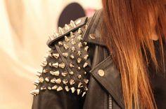 Studded leather vintage jacket