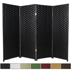 Shop for Handmade Woven Fiber 4-panel 4-foot Room Divider (China). Ships To Canada at Overstock.ca - Your Online Home Decor Outlet Store!  - 12989793