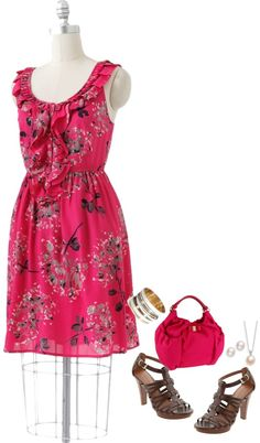 Cute Floral Dress, created by forgiven78 on Polyvore