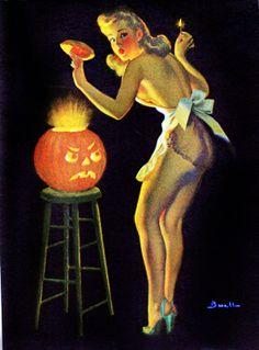 Vintage Halloween Pin-up