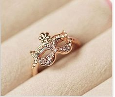 50 Shades of Grey inspired. Free Shipping Ring Bohemia Fox Rhinestone Gold #iwantthis!!