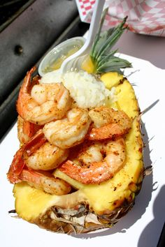 Grilled Shrimp in a Pineapple   The Definitive Ranking Of Fair Foods