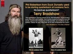 Phil Robertson and Terry Bradshaw.